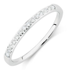 Wedding Band with 0.15 Carat TW of Diamonds in 14ct White Gold