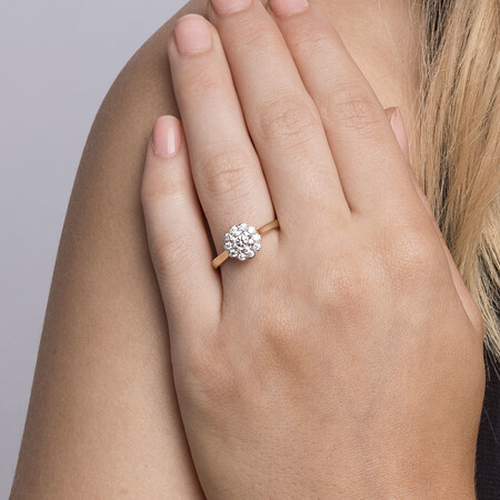 Southern Star Engagement Ring with 0.85 Carat TW of Diamonds in 14ct Yellow & White Gold