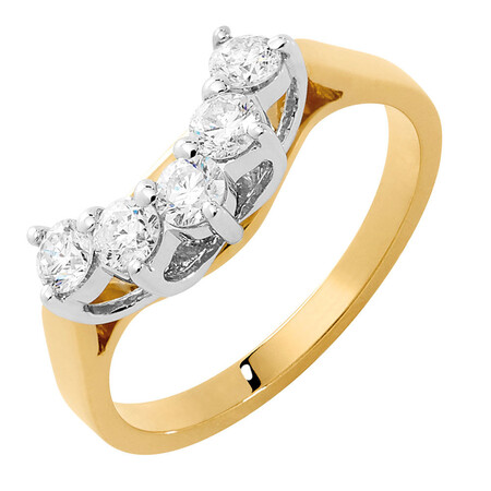 Engagement Ring with 1/2 Carat TW of Diamonds in 18ct Yellow & White Gold