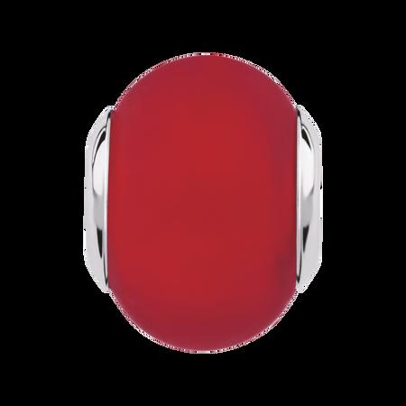 Bright Red Matte Murano Glass Charm