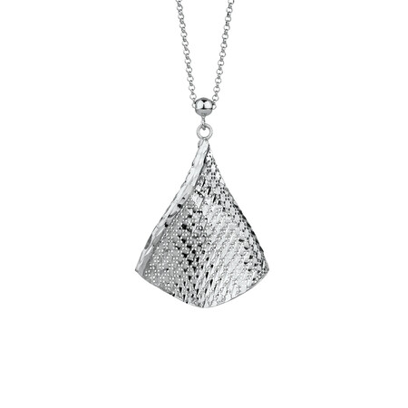Twisted Triangle Pendant in Sterling Silver