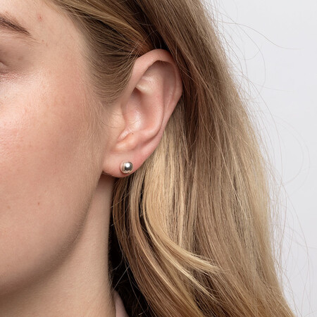 6mm Ball Stud Earrings in Sterling Silver