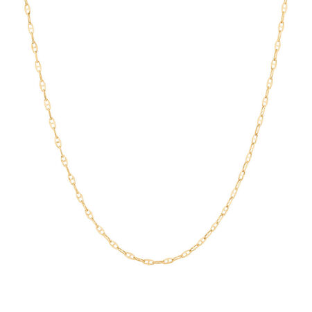 """50cm (20"""") Hollow Fancy Chain in 10ct Yellow Gold"""