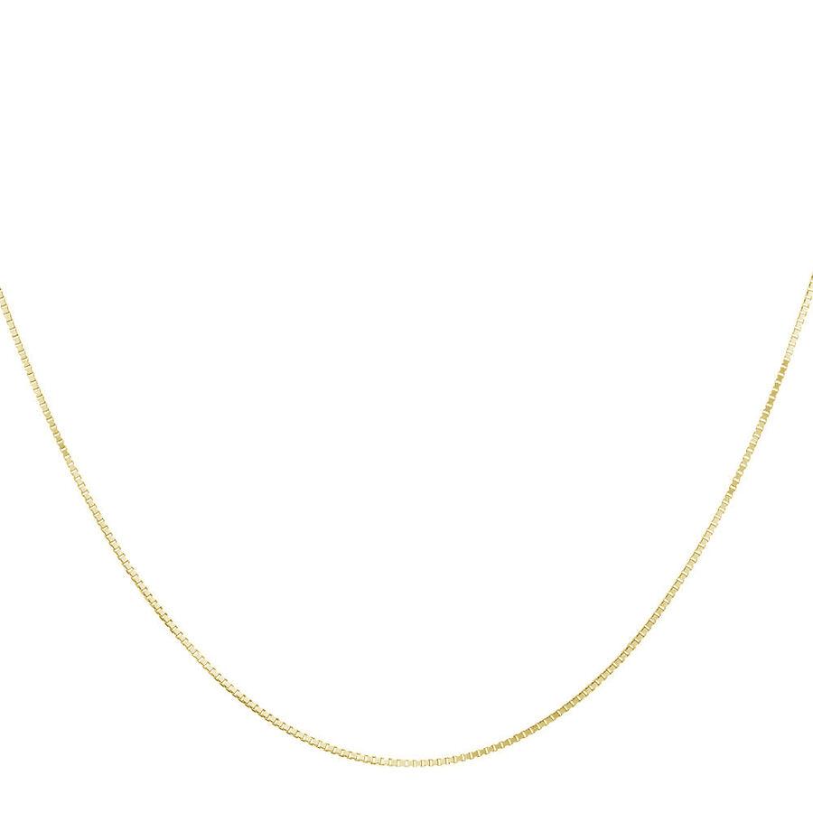 "45cm (18"") Box Chain in 18ct Yellow Gold"