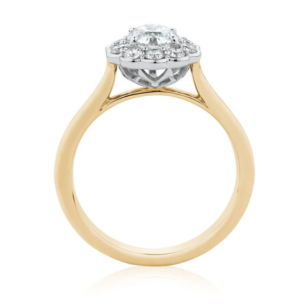Southern Star Engagement Ring with 1.08 Carat TW of Diamonds in 14ct Yellow & White Gold