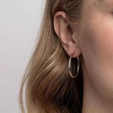 30mm Hoop Earrings in Sterling Silver
