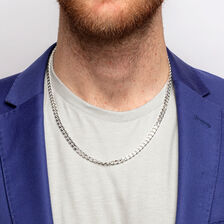 """55cm (22"""") Men's Curb Chain in Sterling Silver"""