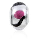Purple & Black Murano Glass Charm