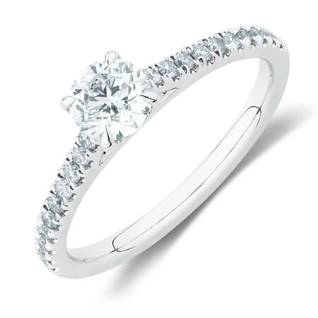 498f53ebc Engagement Ring with 0.78 Carat TW of Diamonds in 14ct White Gold