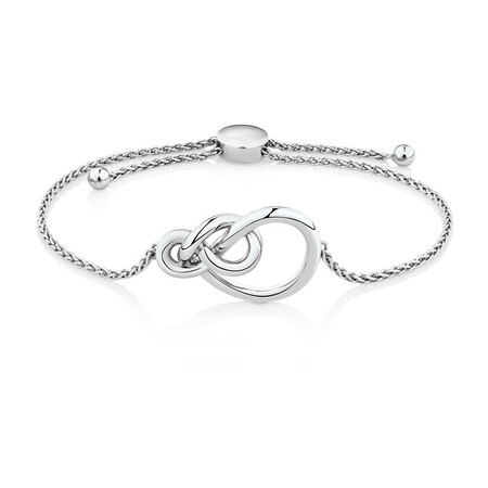 Knots Adjustable Bracelet in Sterling Silver
