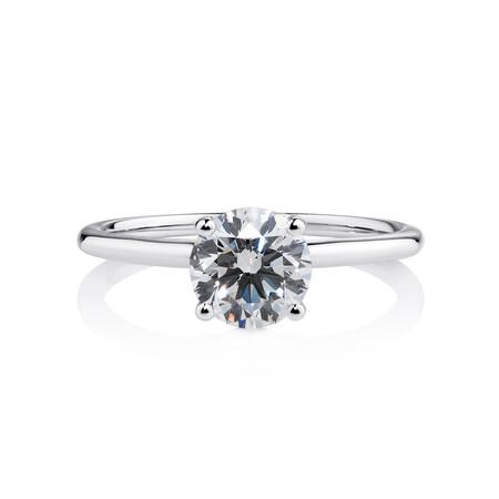 Laboratory-Created 1.50 Carat Diamond Ring in 14ct White Gold