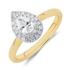 466c31320cbd Engagement Ring with 1 2 Carat TW of Diamonds in 14ct Yellow   White Gold  ...