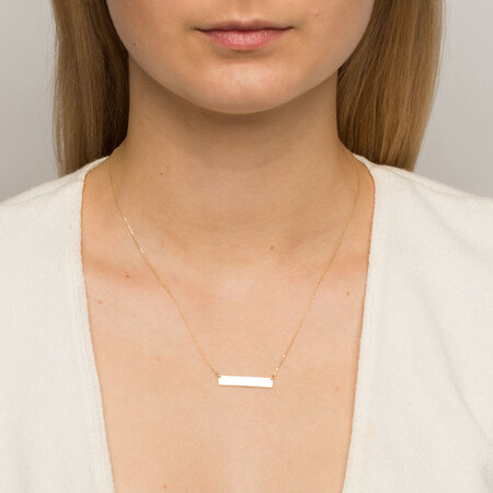 Bar Necklace in 10ct Yellow Gold