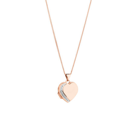 Heart Locket in 10ct Rose Gold