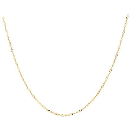 "45cm (18"") Diamond Cut Singapore Chain in 14ct Yellow Gold"