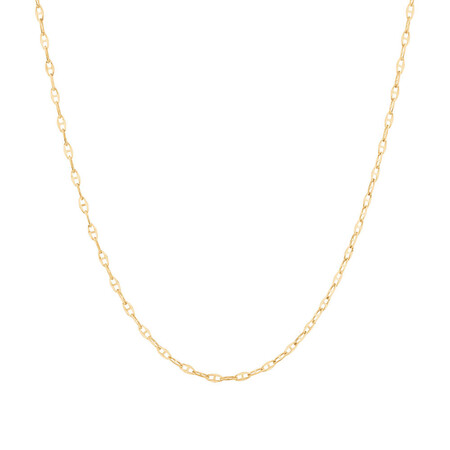 "50cm (20"") Hollow Fancy Chain in 10ct Yellow Gold"