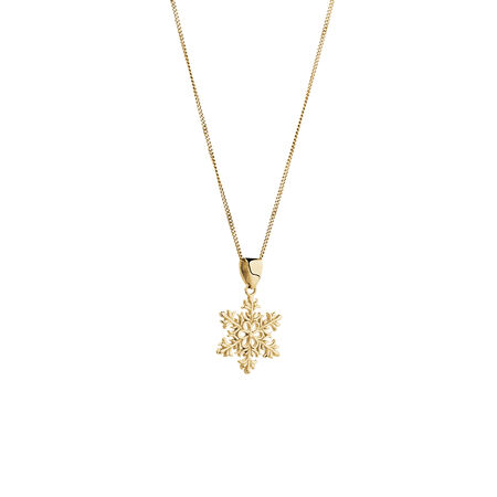Snowflake Pendant in 10ct Yellow Gold