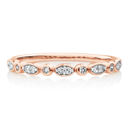 Evermore Wedding Band with Diamonds in 10ct Rose Gold