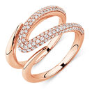 Mark Hill Ring with 0.72 Carat TW of Diamonds in 10ct Rose Gold