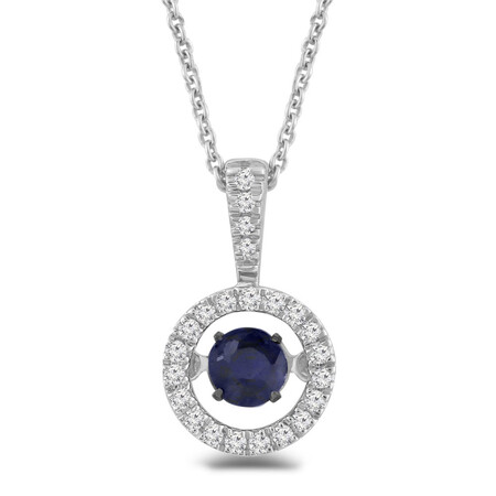 Everlight Pendant with Sapphire and Diamond in Sterling Silver