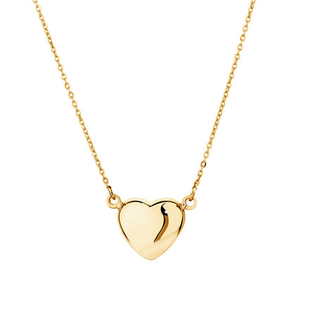 Mini Heart Necklace in 10ct Yellow Gold