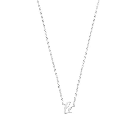 B Initial Pendant in Sterling Silver