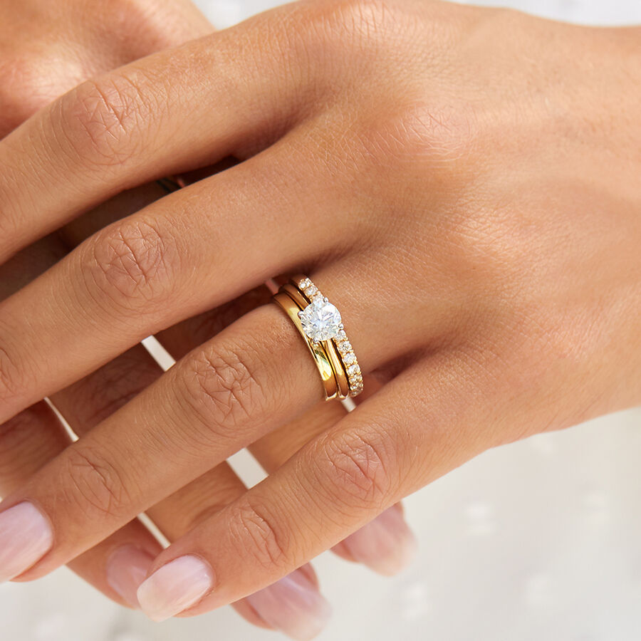 High Domed Wedding Band in 18ct Yellow Gold