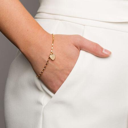 "19cm (7.5"") Diamond Set Belcher Bracelet in 10ct Yellow Gold"