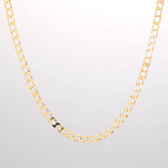 "Online Exclusive - 55cm (22"") Curb Chain in 10ct Yellow Gold"