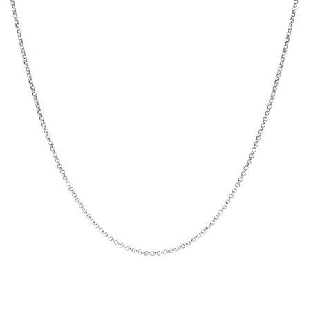 """80cm (32"""") Belcher Chain in 10ct White Gold"""