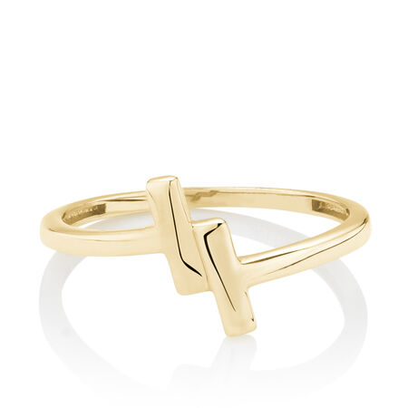 Bar Ring in 10ct Yellow Gold