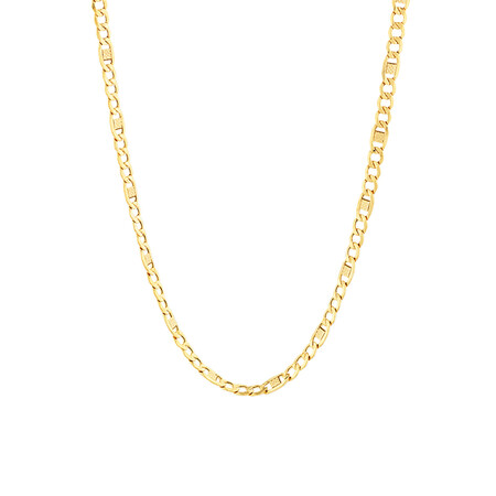 "45cm (18"") Fancy Hollow Chain in 10ct Yellow Gold"