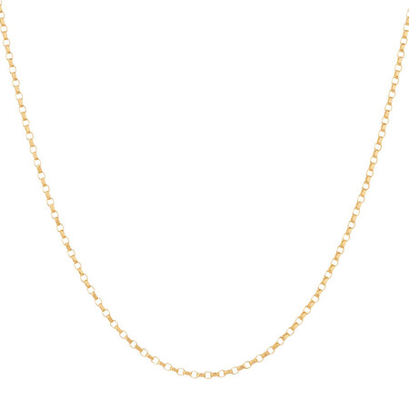 """70cm (20"""") Hollow Belcher Chain in 10ct Yellow Gold"""