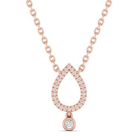 Necklace with Diamonds in 10ct Rose Gold