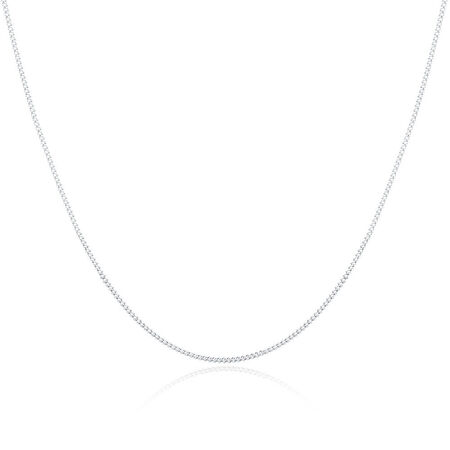 """55cm (22"""") Curb Chain in Sterling Silver"""