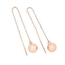 Ball Drop Earrings in 10ct Rose Gold