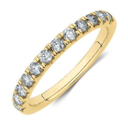 Wedding Band with 1/2 Carat TW of Diamonds in 14ct Yellow Gold