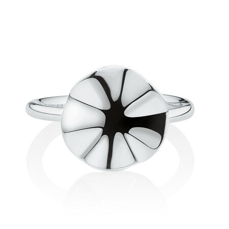 Wave Patterned Ring in Sterling Silver