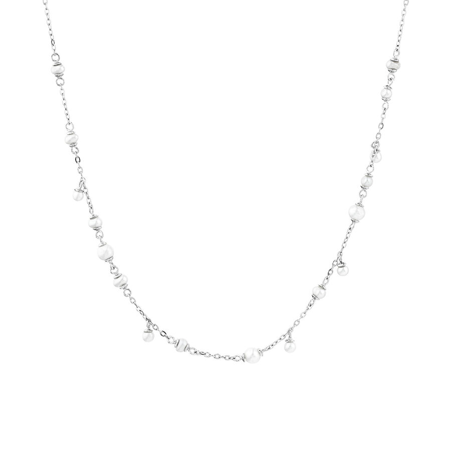 Cultured Freshwater Pearl Droplet Necklace in Sterling Silver