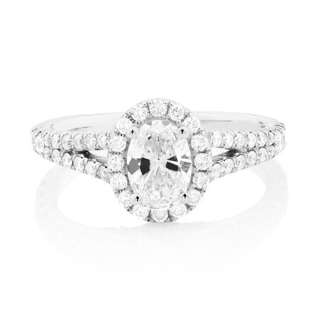 Sir Michael Hill Designer GrandAllegro Engagement Ring with 1.47 Carat TW of Diamonds in 14ct White Gold