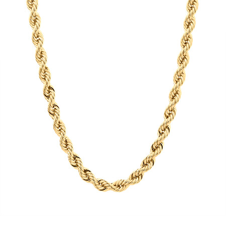 "60cm (24"") Rope Chain in 10ct Yellow Gold"