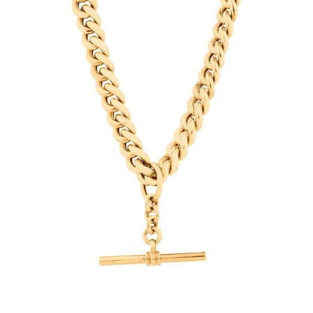 "50cm (20"") Fob Chain in 10ct Yellow Gold"