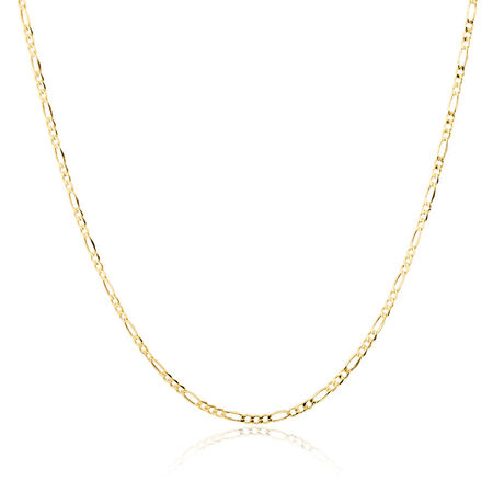 "70cm (28"") Hollow Figaro Chain in 10ct Yellow Gold"