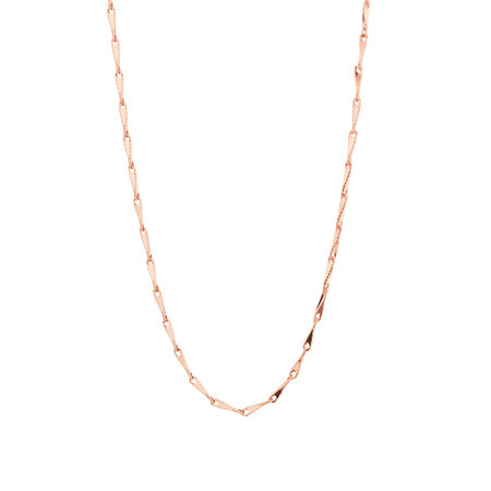 "45cm (18"") Infinity Chain in 10ct Rose Gold"