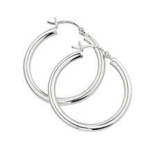 25mm Hoop Earrings in Sterling Silver