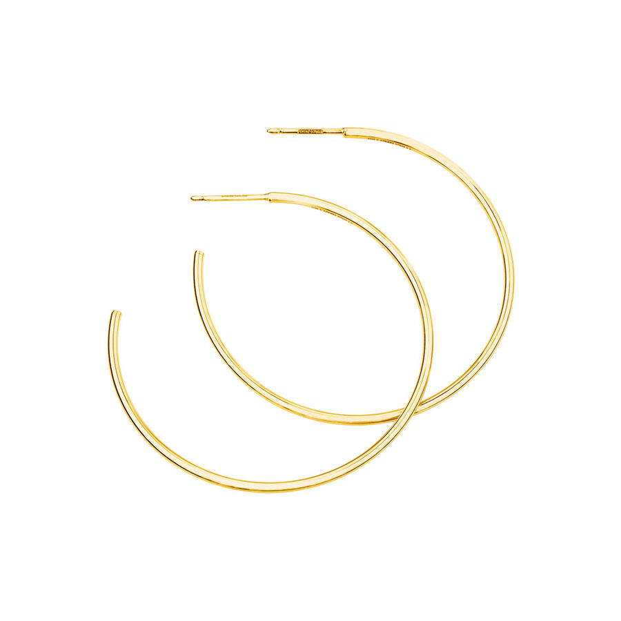 43mm Hoop Earrings In 10ct Yellow Gold