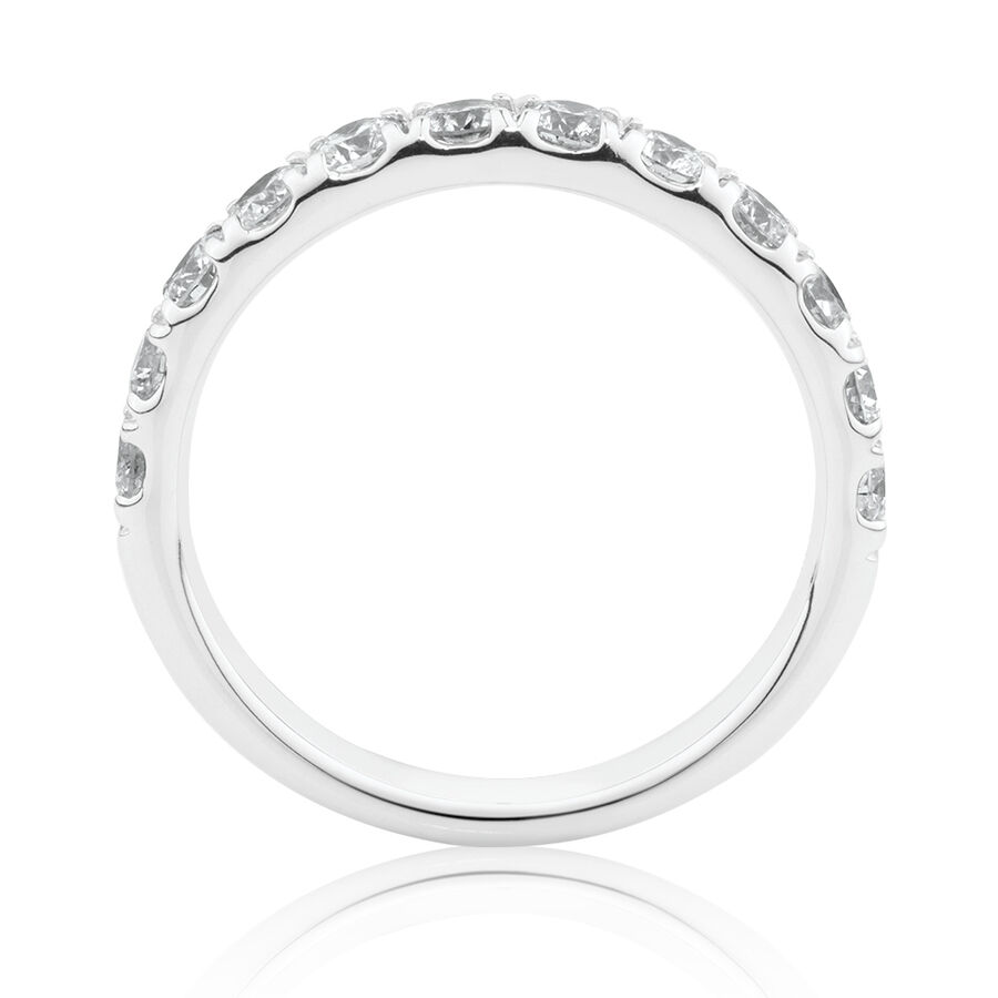 Evermore Wedding Band with 1 Carat TW Diamonds in 14ctWhite Gold