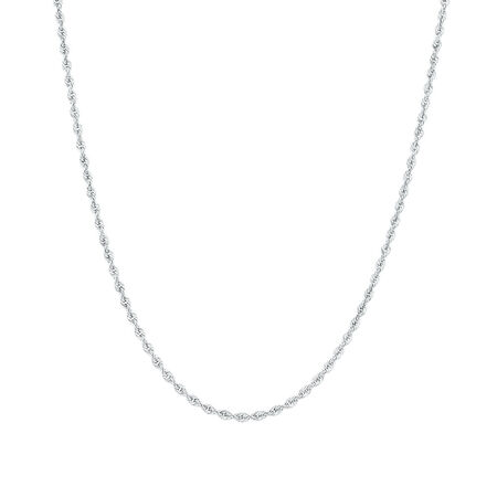 """45cm (18"""") Rope Chain in 10ct White Gold"""