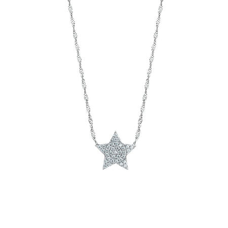 Star Pendant with Cubic Zirconia in Sterling Silver