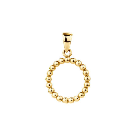 Bubble Circle Pendant in 10ct Yellow Gold